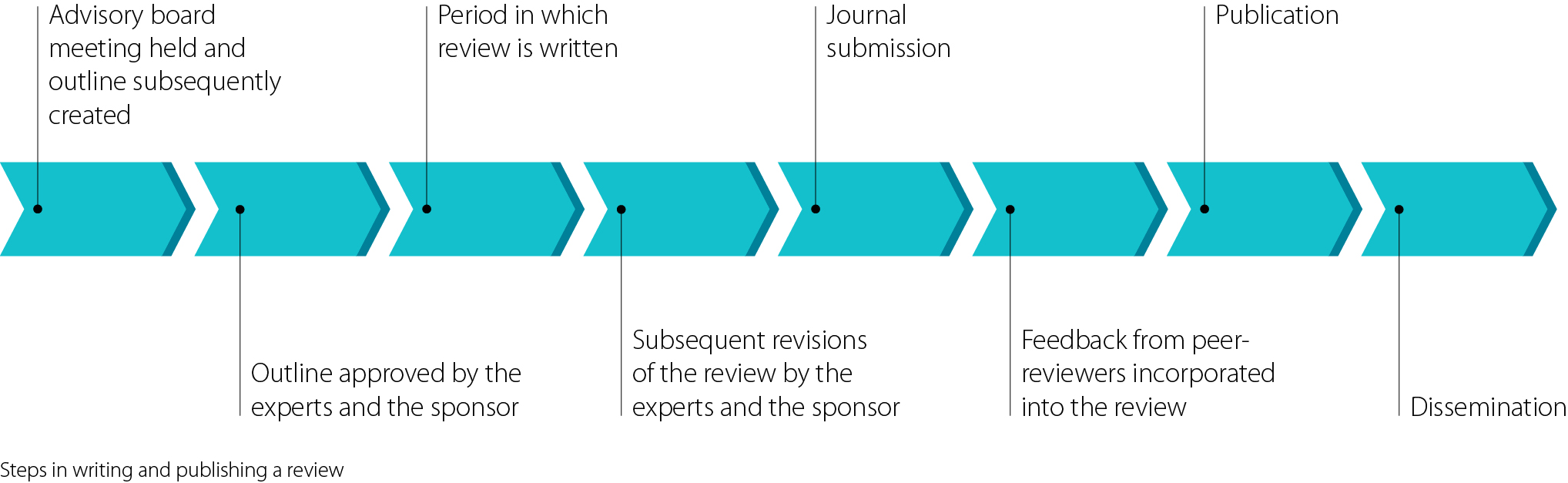 steps in writing and publishing a medical review